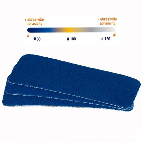 Ricambi abrasivi blu #80
